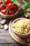 Sardinian raw pasta malloreddus Stock Images