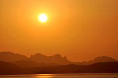Sardinian sunset Royalty Free Stock Photos