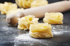 Sardinian traditional pasta malloreddus with sausage Royalty Free Stock Photos