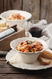 Sardinian traditional pasta malloreddus with sausage Stock Photo