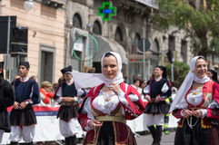 Sardinian typical costumes Stock Image