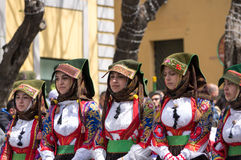 Sardinian typical costumes Royalty Free Stock Image