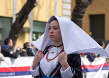 Sardinian typical costumes Stock Photography