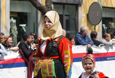 Sardinian typical costumes Royalty Free Stock Photos