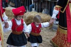 Sardinian typiska dräkter Royaltyfri Fotografi