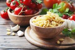 Sardinian uncooked pasta malloreddus. Selective focus Stock Image