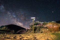 Sardinien, Cala Domestica nachts lizenzfreie stockfotos