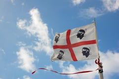 Sardinien-Markierungsfahne Lizenzfreie Stockbilder