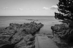 Sardinien-Seeeingang Bn Stockfotografie
