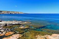 Sardinien - Ufer in San Pietro stockfoto