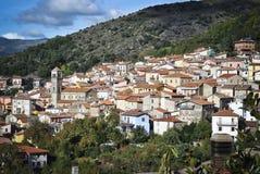 Sardinige. Aritzo royalty-vrije stock afbeelding