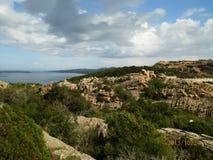 Sardinige - Capo Testa stock afbeelding