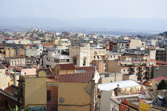 Sardinige. De Mening van Cagliari Stock Afbeeldingen