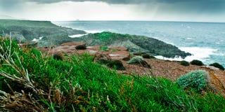 Sardinige-eiland van Sant'Antioco Royalty-vrije Stock Foto's