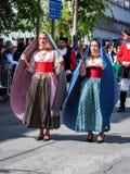 Sardinige, Italië Feest van de Verlosser, traditionele kostuumsparade royalty-vrije stock foto