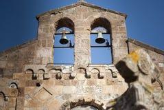 Sardinige. Klok-geveltop Stock Foto