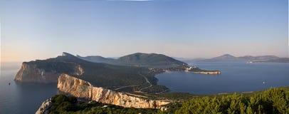 sardinige Panorama van Capo Caccia Stock Fotografie