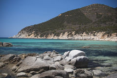 Sardinige. Tropische wateren en rotsen Royalty-vrije Stock Foto's