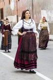 Sardinische Kostümparade Lizenzfreies Stockbild