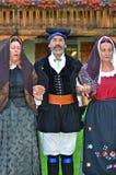 Sardinische Tänzer Stockfotografie