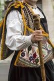 Sardinisches traditionelles Kostüm Lizenzfreie Stockbilder