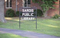 Sardis密西西比公立图书馆 免版税库存照片