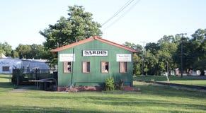 Sardis密西西比列车车库 免版税图库摄影