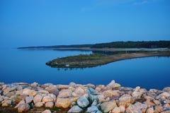 Sardis sjö Fotografering för Bildbyråer