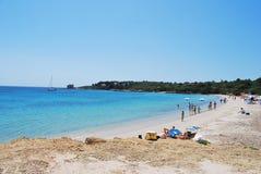 Sardisch Strand stock afbeelding