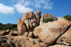 Sardische klippen Royalty-vrije Stock Afbeeldingen