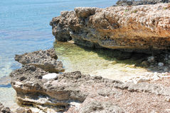 Sardische klippen Royalty-vrije Stock Afbeelding