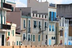 Sardische stad stock afbeelding