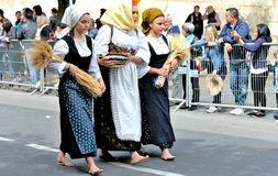 Sardische traditie Stock Foto