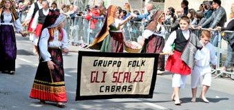 Sardische traditie Stock Foto's