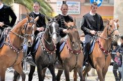 Sardische traditie stock fotografie