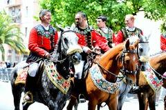 Sardische traditie stock afbeeldingen