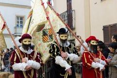 Sardo, festival de Sartiglia Imagem de Stock Royalty Free