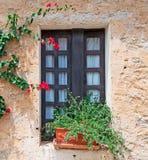 Sardyński okno Obrazy Royalty Free