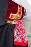 Sardyński tradycyjny kostium Obrazy Royalty Free
