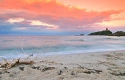 Sardynia bautiful wschód słońca Zdjęcie Stock