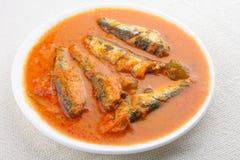 Sardynka rybi curryAsian styl. zdjęcia stock