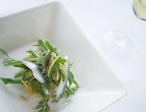 Sardynki i fasolki szparagowej sałatka Obraz Royalty Free