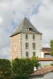Sare,法国在西班牙法国边界的巴斯克地区, Labourd省的一个小山顶17世纪村庄 接近St吉恩 库存照片