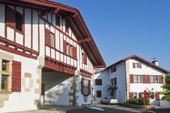 Sare basque village. In the south of France royalty free stock photography