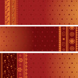 Saree banners Royalty Free Stock Images