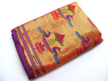 Saree de seda indiano Fotos de Stock