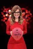 Sareste il mio biglietto di S. Valentino? Immagine Stock Libera da Diritti
