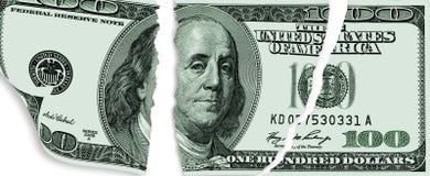 Sargad dollar Fotografering för Bildbyråer