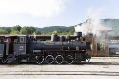 Sargan Vitasi,塞尔维亚, 2017年7月17日:老蒸汽火车在Sargan Vitasi 图库摄影