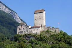 Sargans城堡,瑞士 库存照片